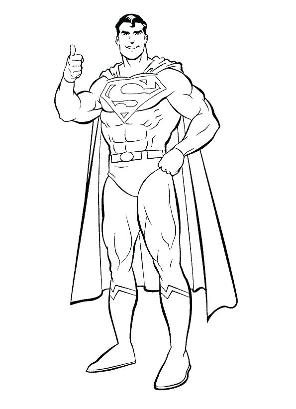 595x822 Superman Color Pages Free Printable Superman Color Pages Torster