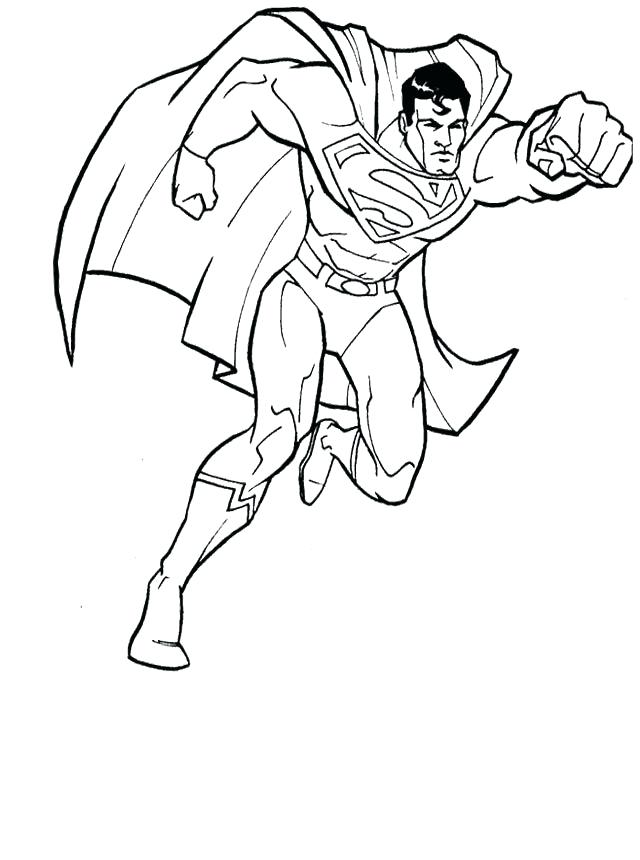 640x860 Superman Coloring Page Download Superman Coloring Pages Free
