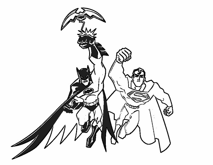 700x541 Batman And Superman Coloring Pages Superman Batman Coloring Pages