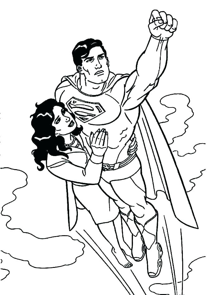 687x947 Free Superman Coloring Pages
