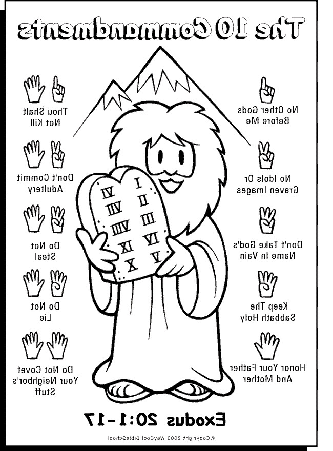 650x880 Commandments Coloring Page Ten Wall Chart Of Colouring Pages