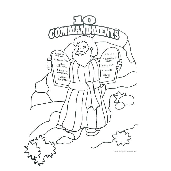This is an image of Dynamic Free Printable Ten Commandments Coloring Pages