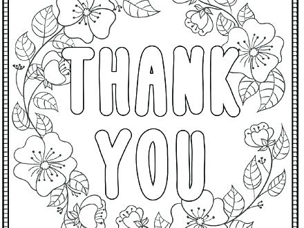 440x330 Thank You Coloring Page Thank You Coloring Page Saying Thank You