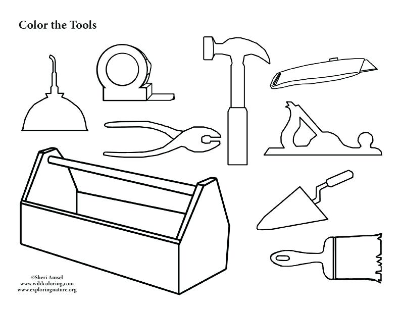 image regarding Printable Tools identify No cost Printable Equipment Coloring Webpages at