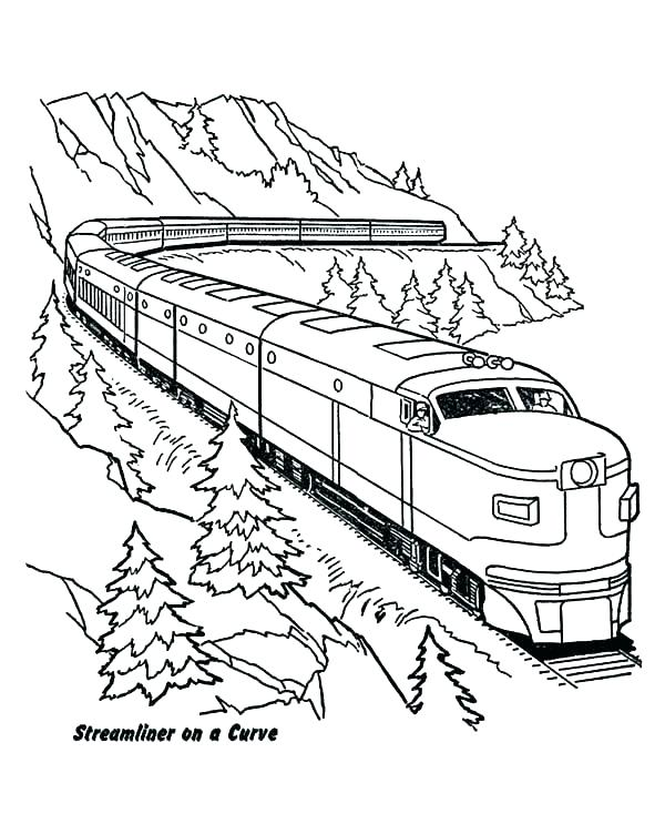 image regarding Printable Trains identified as Free of charge Printable Practice Coloring Web pages at
