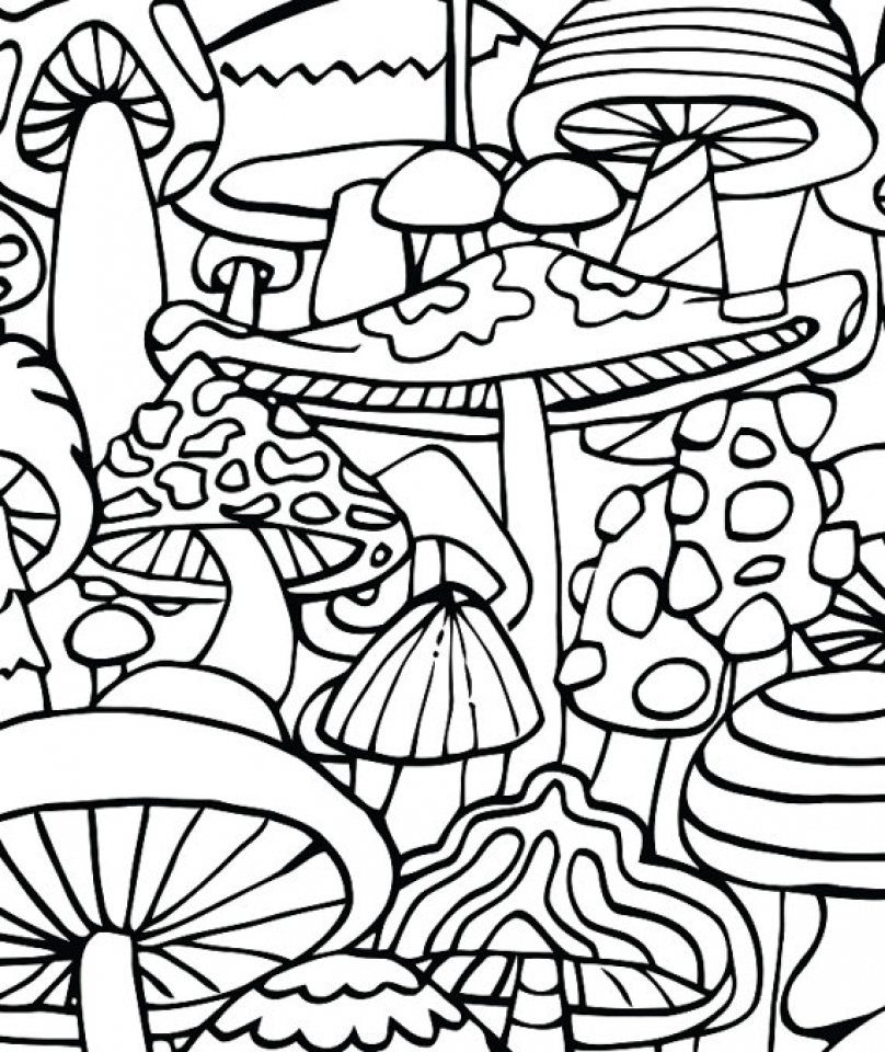 808x960 Free Printable Trippy Coloring Pages