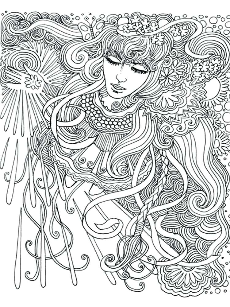 750x1000 Free Psychedelic Coloring Pages Free Printable Trippy Coloring