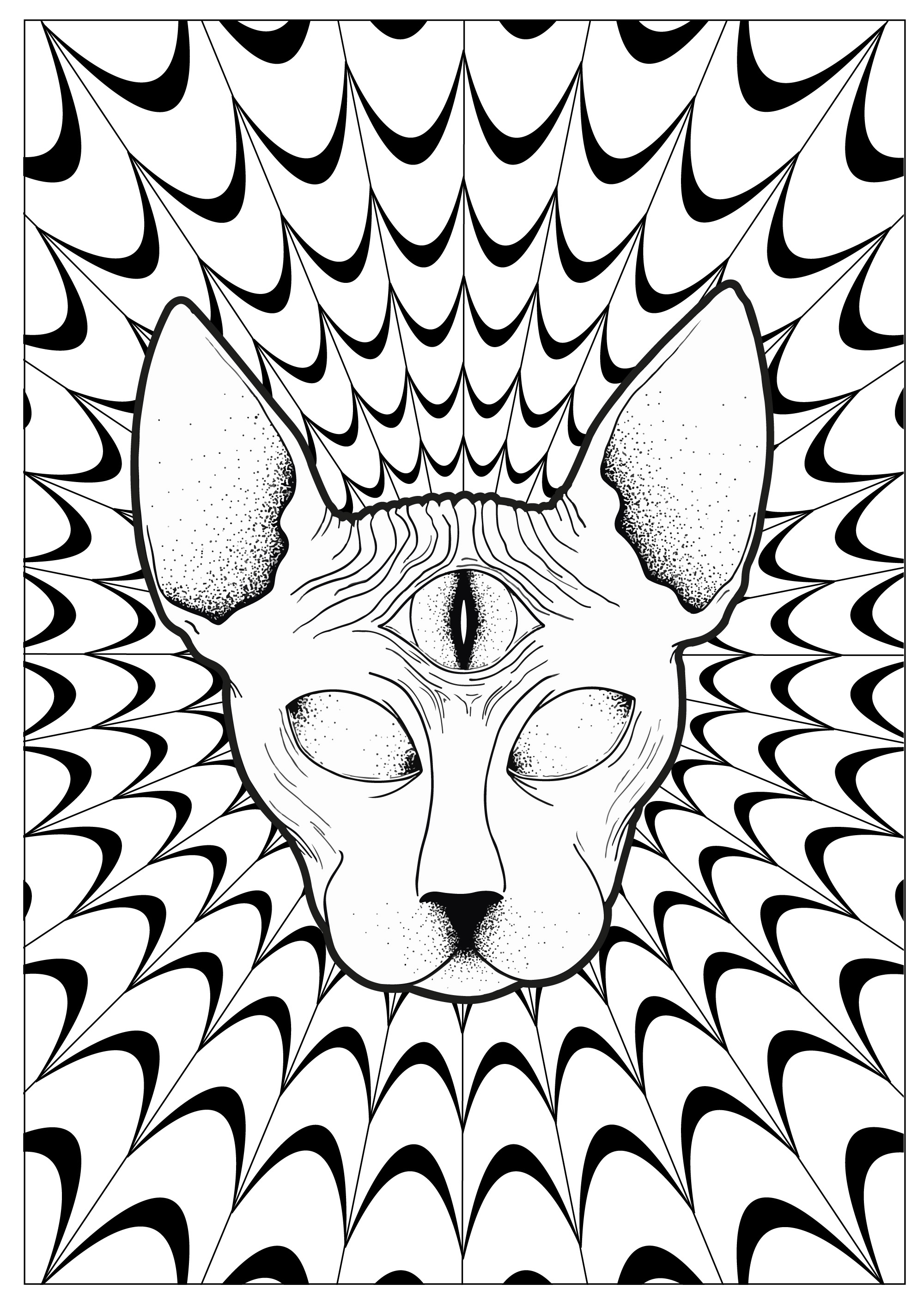 2000x2830 Printable Free Printable Trippy Coloring Pages Printable Coloring