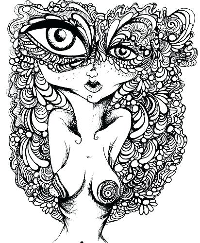 412x500 Trippy Coloring Pages Trippy Weed Coloring Page Free Printable