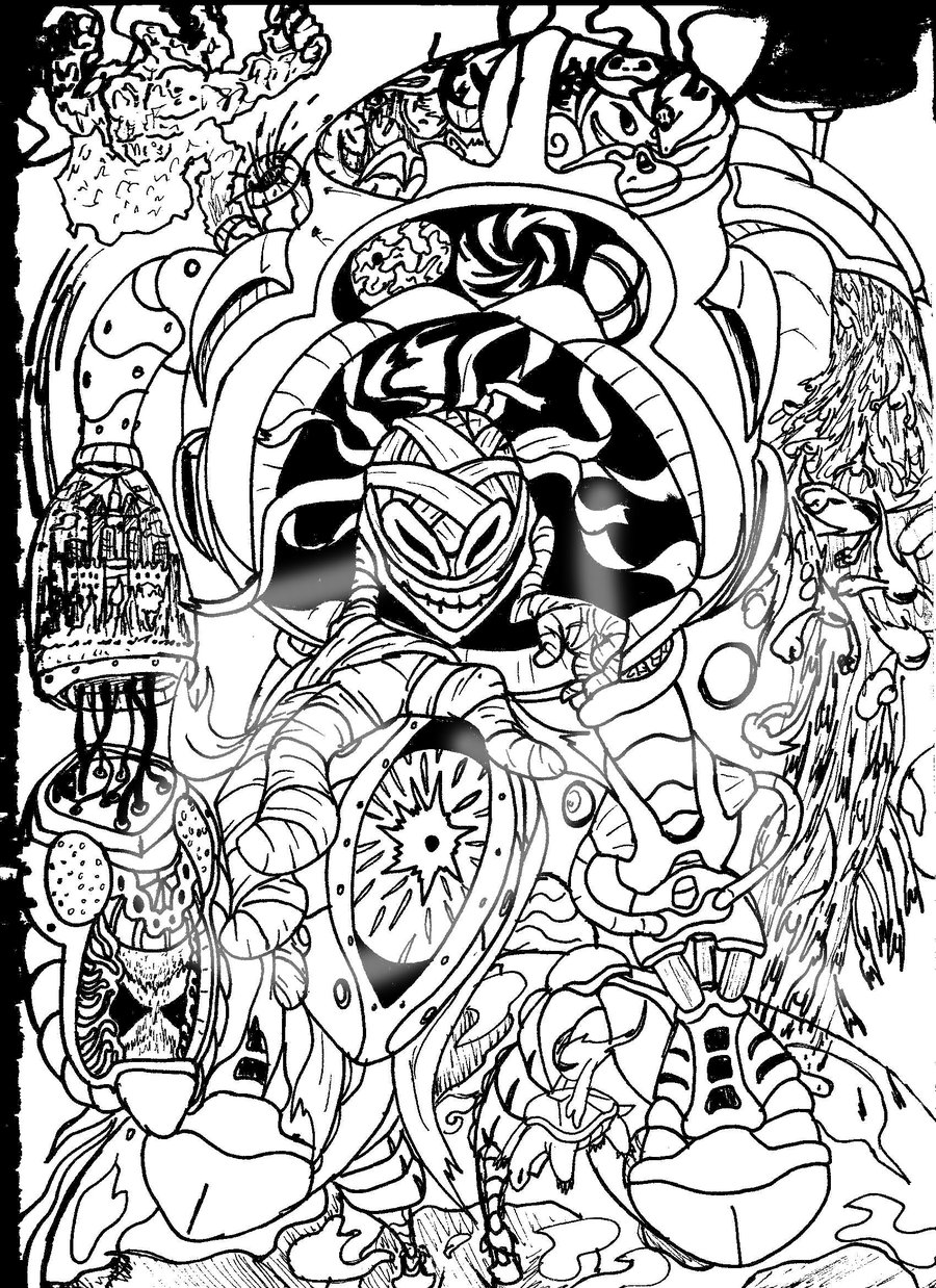 900x1238 Trippy Weed Coloring Page Free Printable Pages Incredible