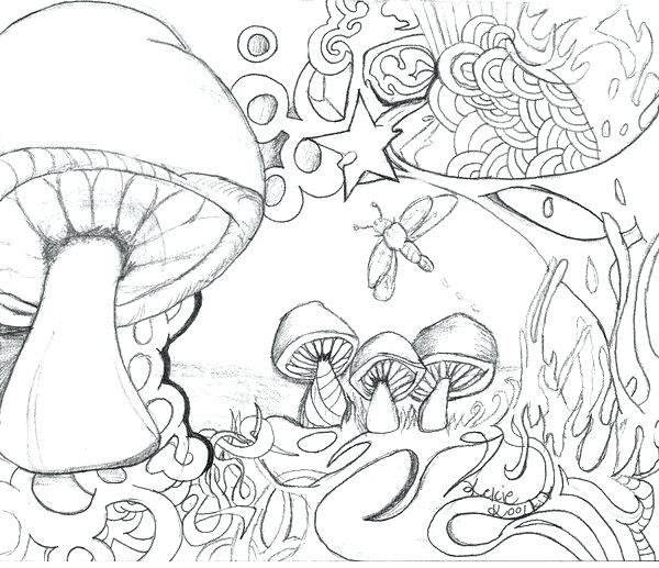 600x517 Free Printable Trippy Coloring Pages