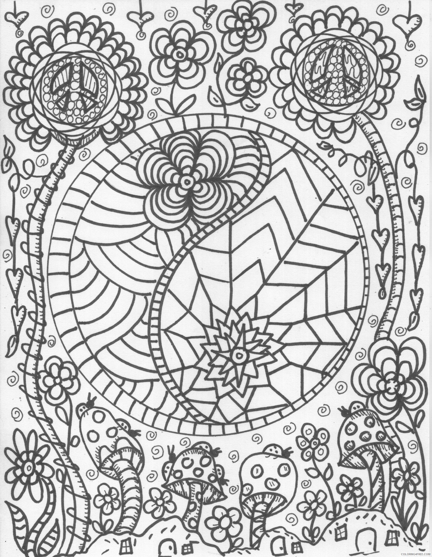 1700x2189 Trippy Coloring Pages Free Printable