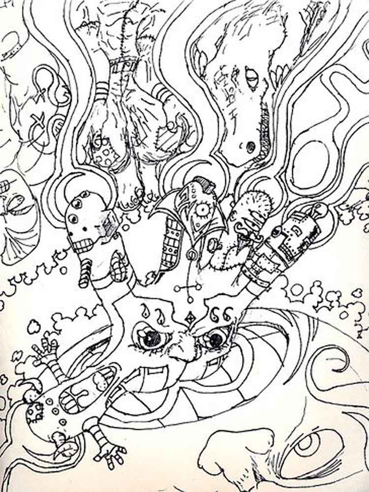 750x1000 Trippy Coloring Pages Printable Psychedelic Coloring Pages