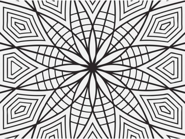 640x480 Free Printable Coloring Pages For Adults Geometric Photographs