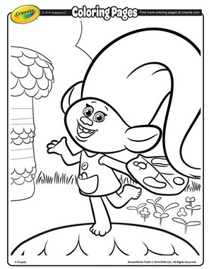 296x381 Free Printable Dreamworks Trolls Coloring Pages The Frugal Free Gal