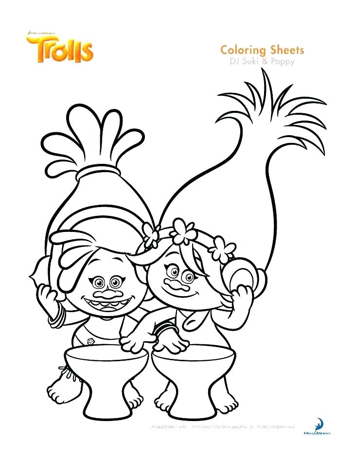 728x942 Poppy Coloring Pages Trolls Coloring Pages Poppy And Poppy