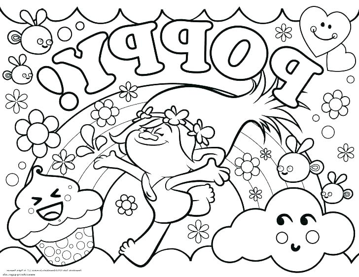 728x562 Troll Coloring Pages Free Printable Troll Coloring Pages Trolls