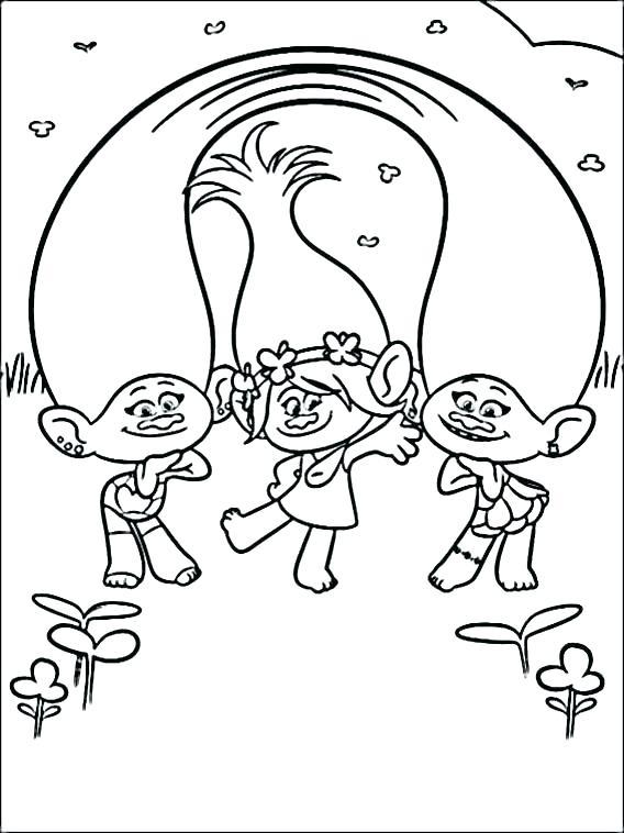 568x758 Trolls Coloring Book Printable Trolls Coloring Book Printable