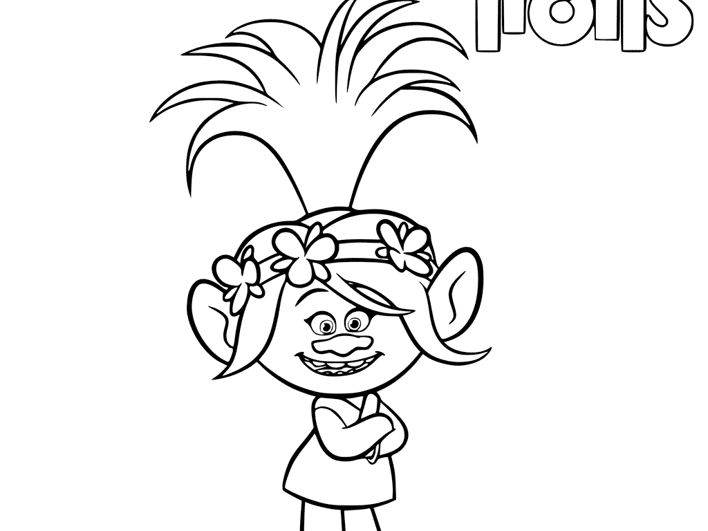 1024x768 Trolls Coloring Sheets And Printable Poppy Free From Page Cartoons