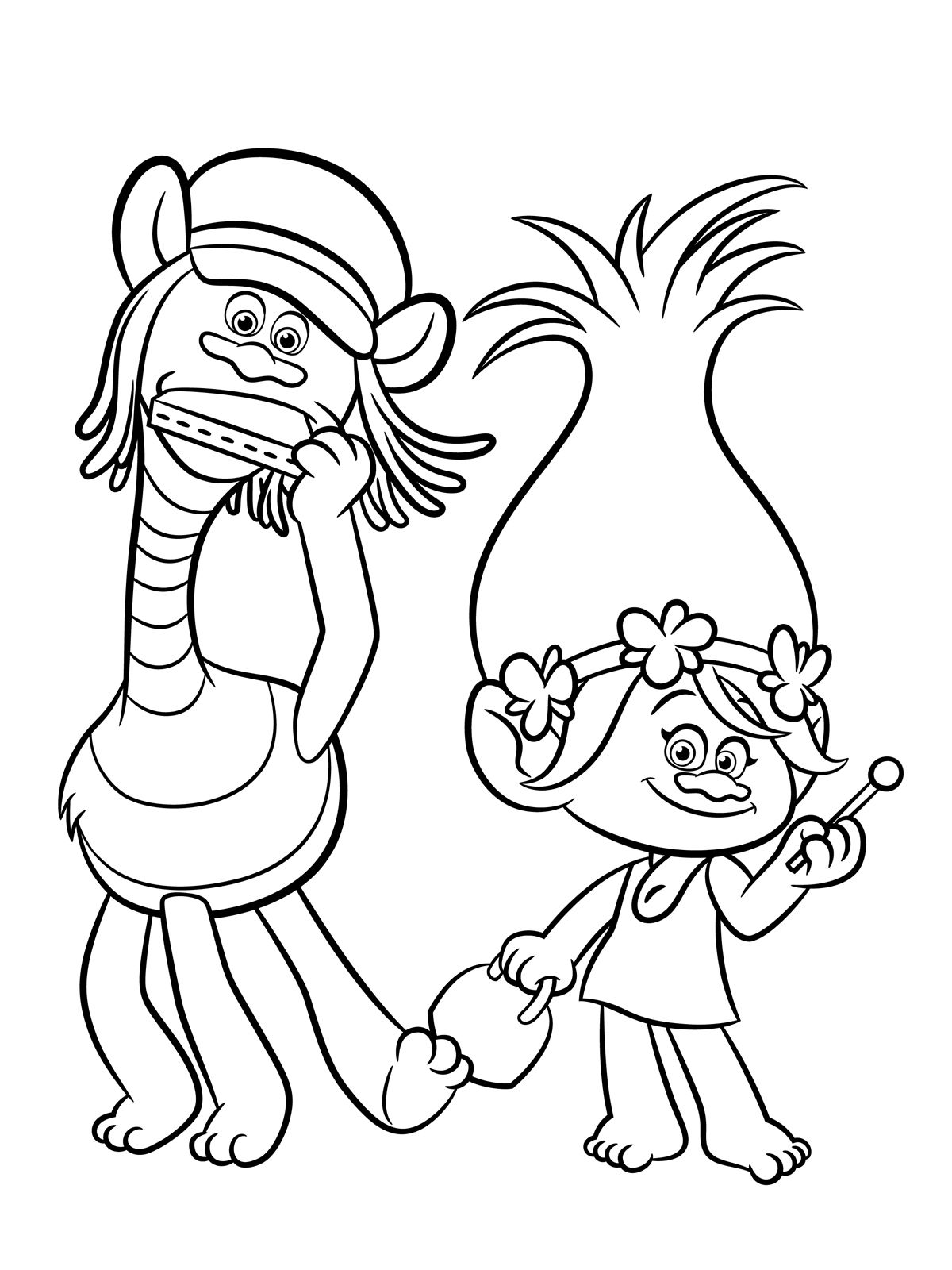1200x1600 Trolls Coloring Pages To Download And Print For Free Birthday