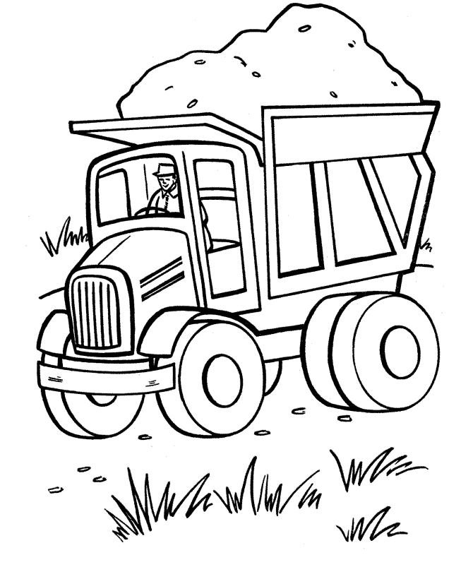 Free Printable Truck Coloring Pages