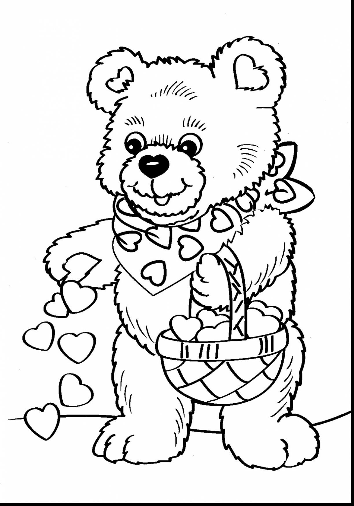 1224x1745 Free Printable Valentines Day Coloring Pages Stunning Teddy Bear
