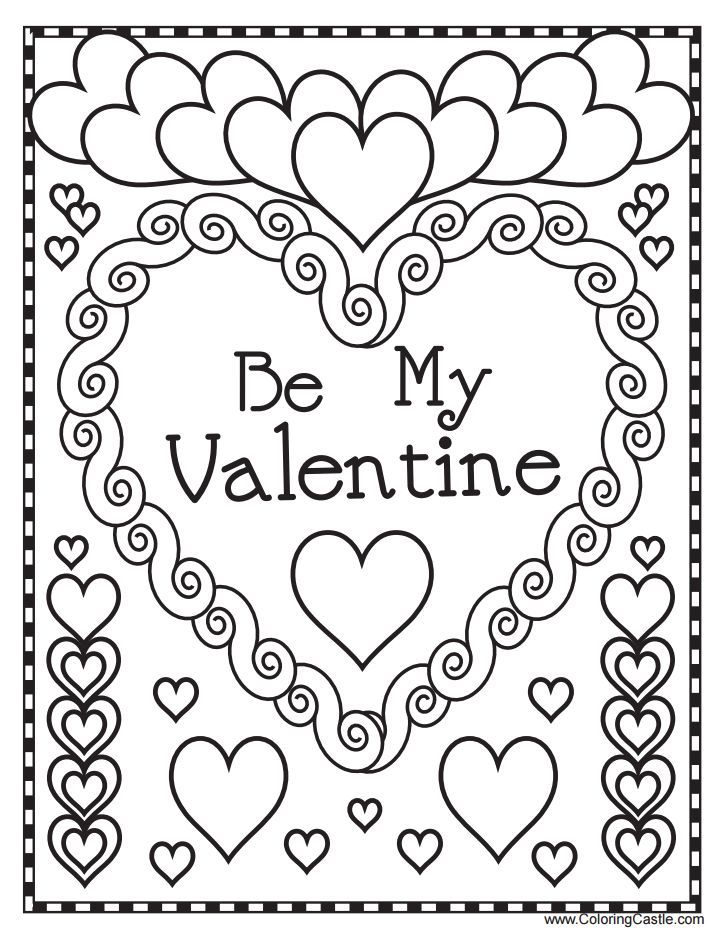 Free Printable Valentines Day Coloring Pages at GetDrawings.com ...