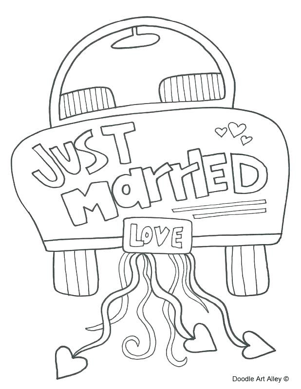 Free Printable Wedding Coloring Pages at GetDrawings.com ...