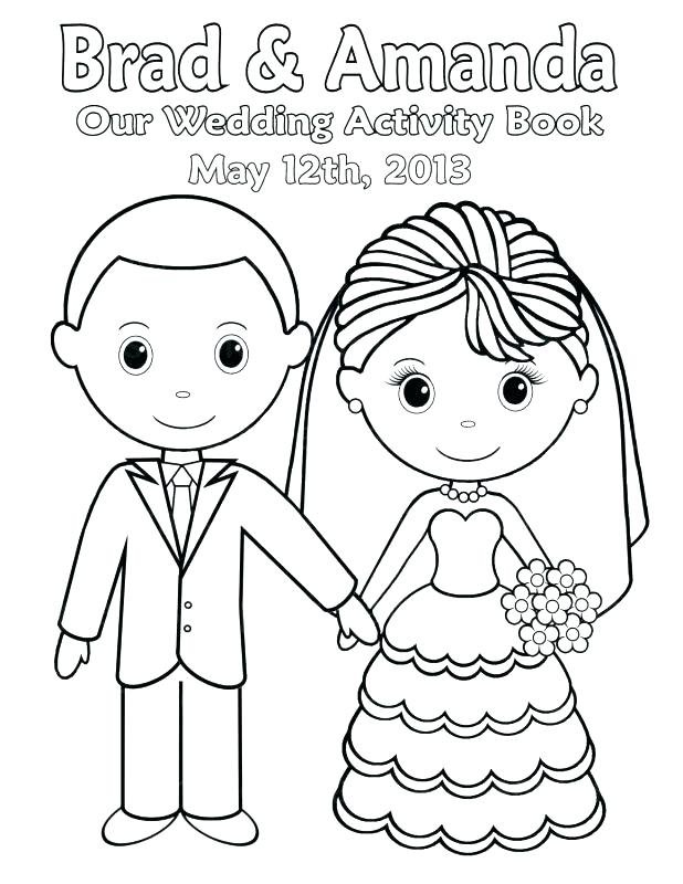 graphic relating to Printable Wedding Coloring Books referred to as No cost Printable Wedding day Coloring Web pages at
