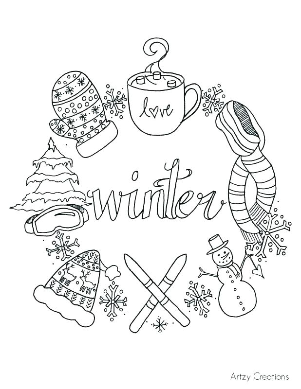 graphic regarding Printable Winter Color Pages named Totally free Printable Wintertime Coloring Internet pages at