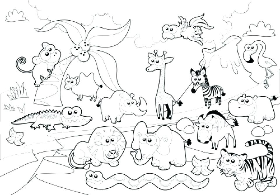 Free Printable Zoo Animal Coloring Pages At Getdrawings Com