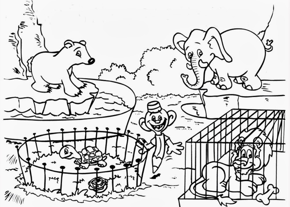 1008x718 Remarkable Design Coloring Page Zoo Zoo Animals Coloring Page Free