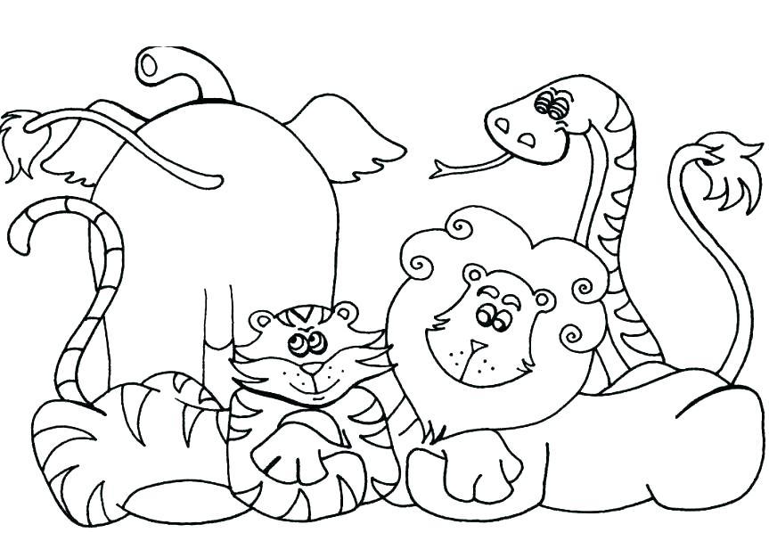 863x607 Zoo Animal Coloring Page Fresh Free Printable Animal Coloring