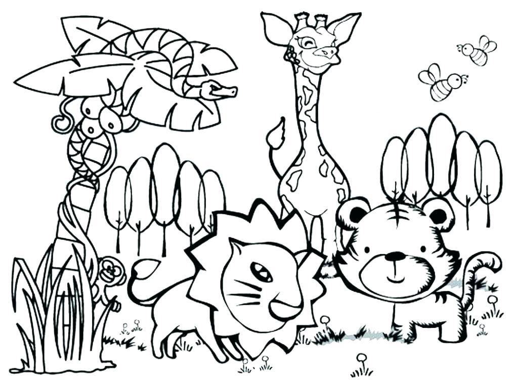 1020x768 Zoo Animals Coloring Page Fresh Zoo Animals Animal Printable