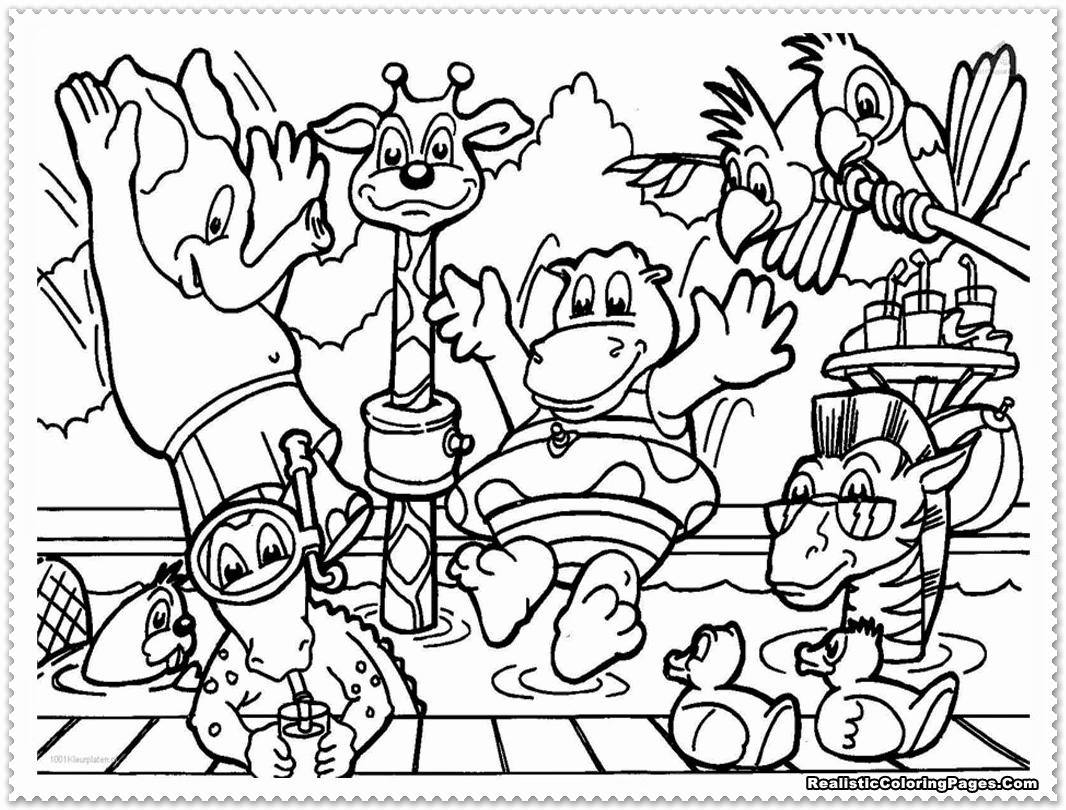 1066x810 Advanced Animal Coloring Pages Awesome Zoo Animals Coloring