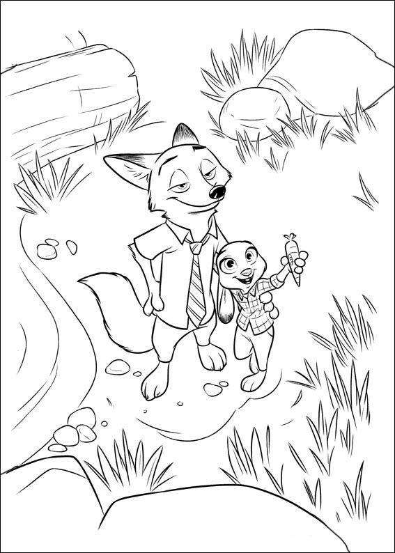 567x794 Zootopia Coloring Pages Logan Personajes