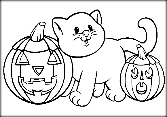 Halloween Coloring Pages - Easy Peasy and Fun | 404x580