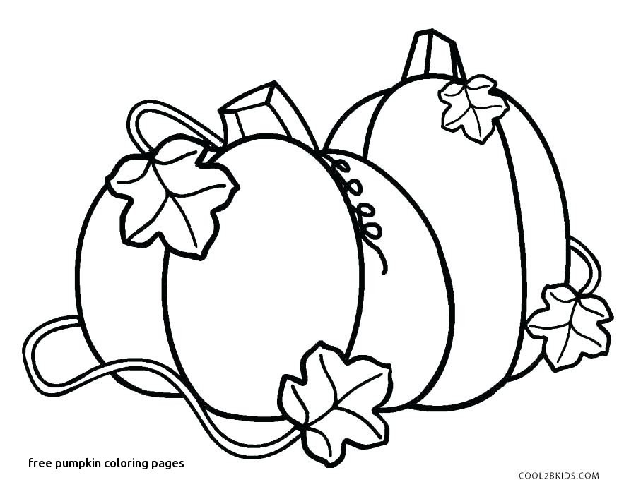 Free Pumpkin Coloring Pages Preschoolers
