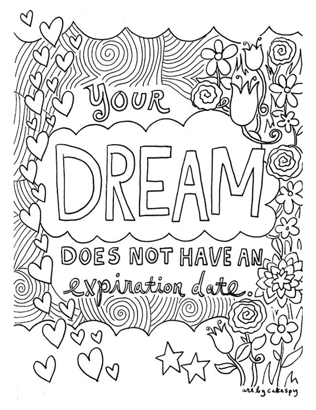 650x841 Free Printable Quote Coloring Pages For Adults Inspiring Quote