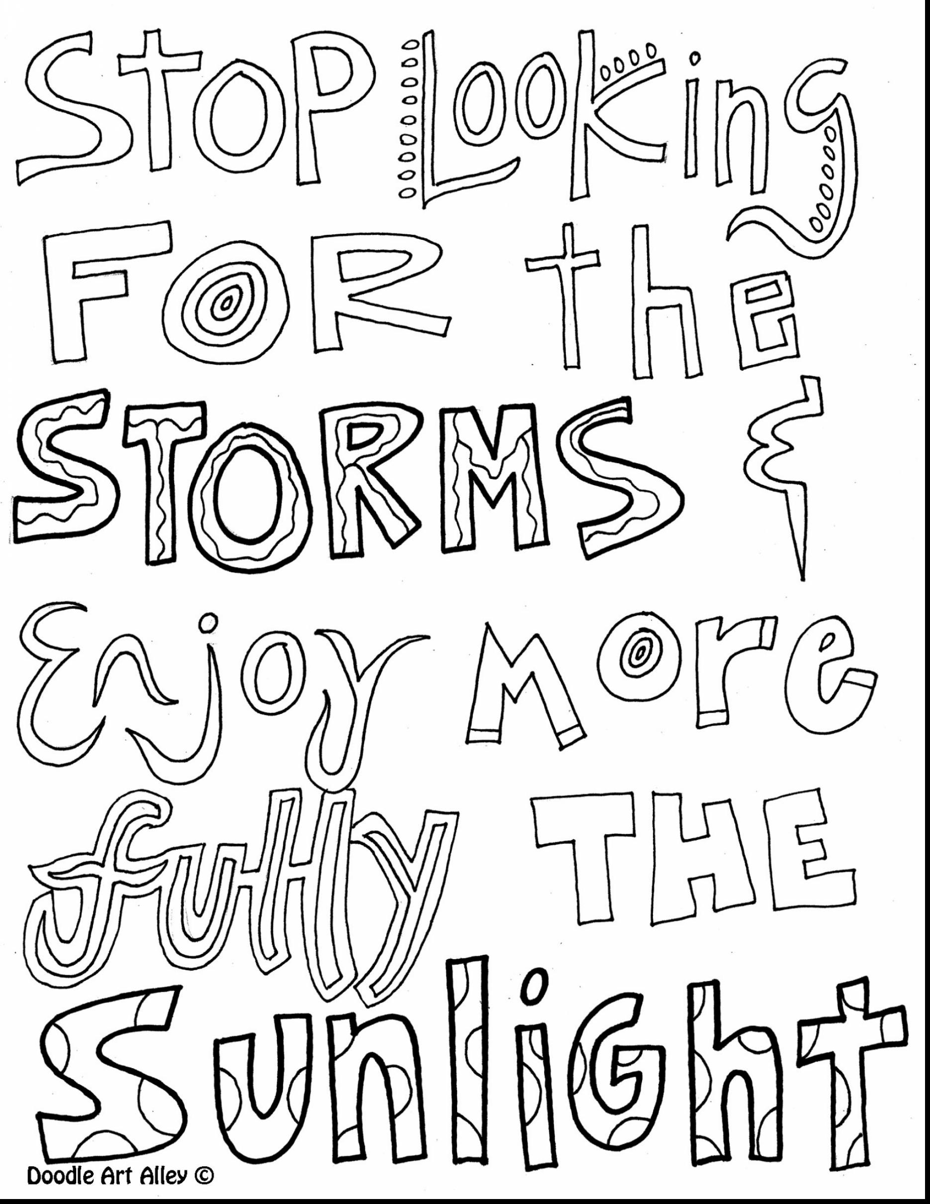 1870x2420 Inspirational Quote Coloring Pages Printable