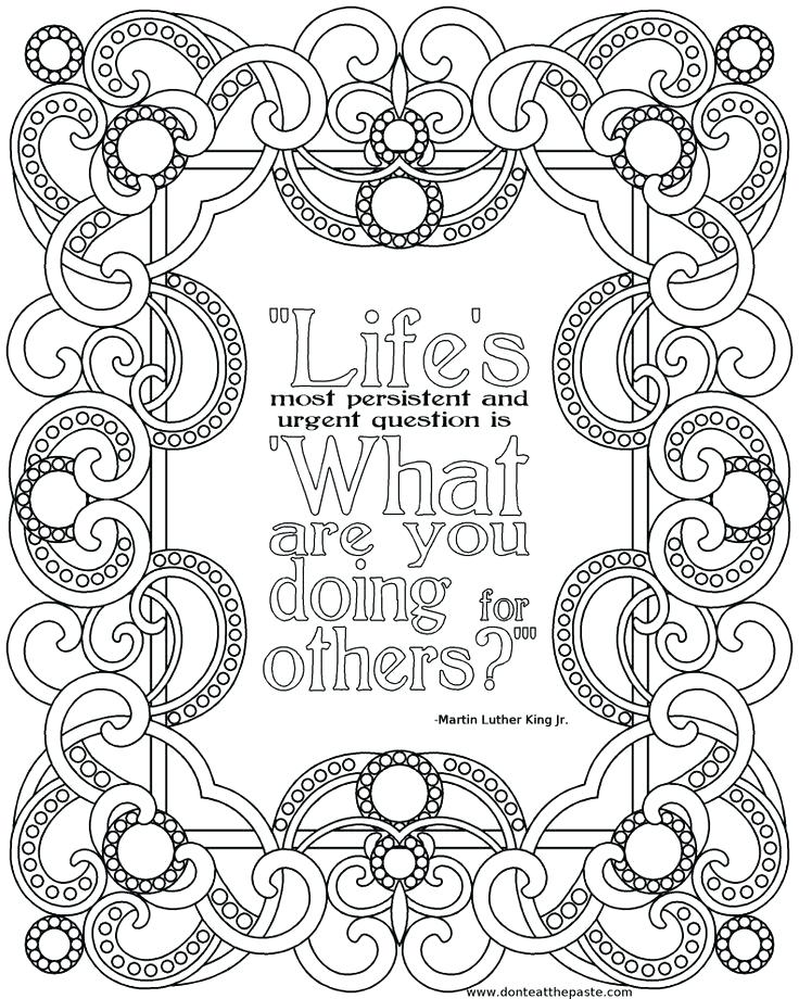 736x920 Printable Quote Coloring Pages For Adults