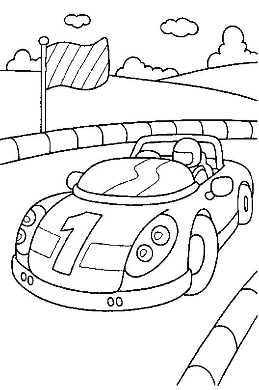 Free Race Car Coloring Pages