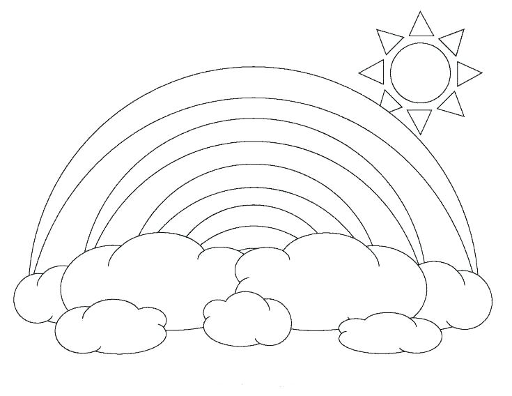 picture regarding Printable Rainbow Coloring Page named Cost-free Rainbow Coloring Internet pages at  Totally free for