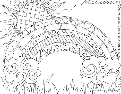 498x385 Free Rainbow Coloring Pages Rainbow Coloring Pages Rainbow