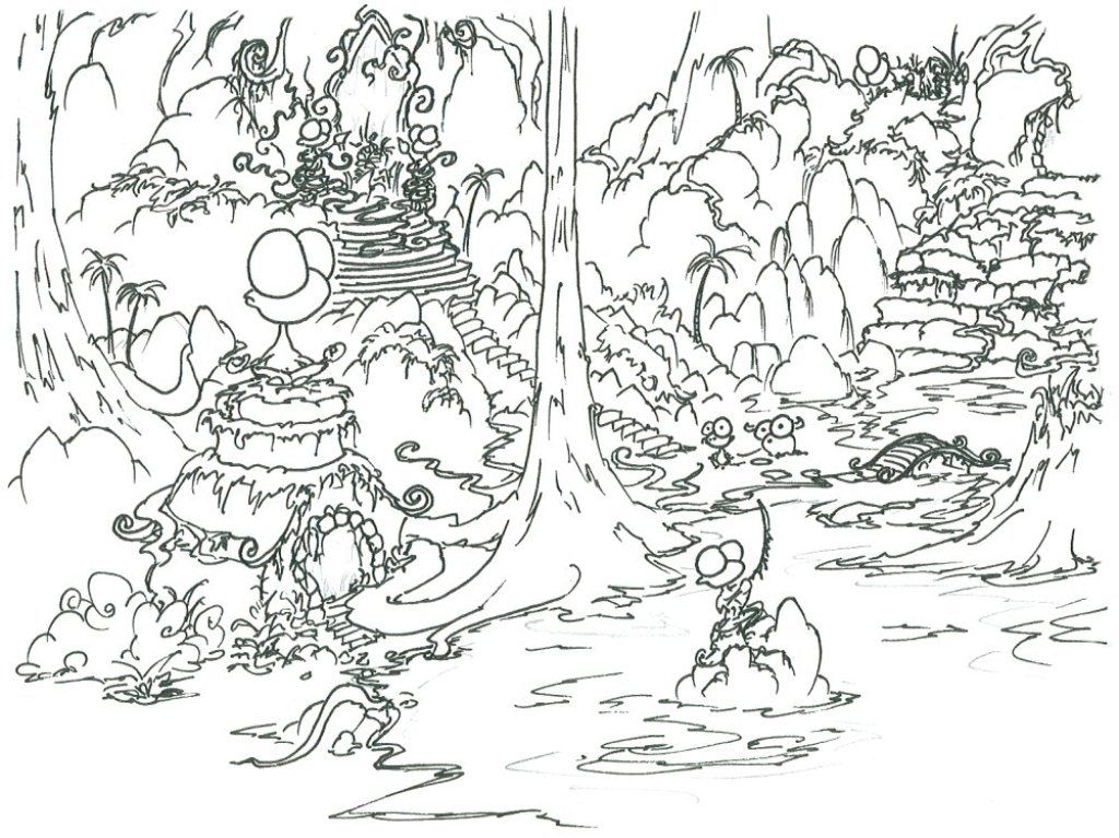 1024x767 Rainforest Coloring Pages For Kids Collection