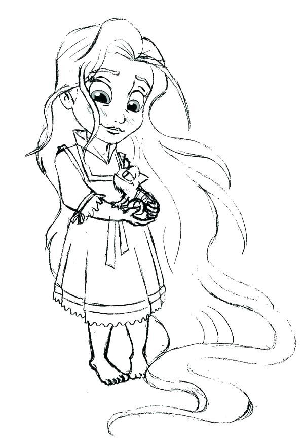 600x878 Rapunzel Color Pages Color Pages Painting Baby Princess Rapunzel