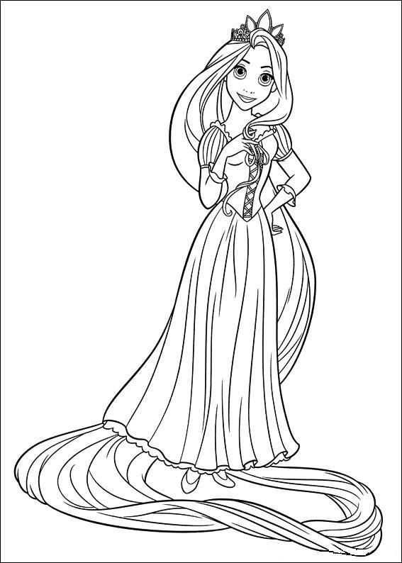 567x794 The Best Disney Tangled Rapunzel Coloring Pages Free, Rapunzel