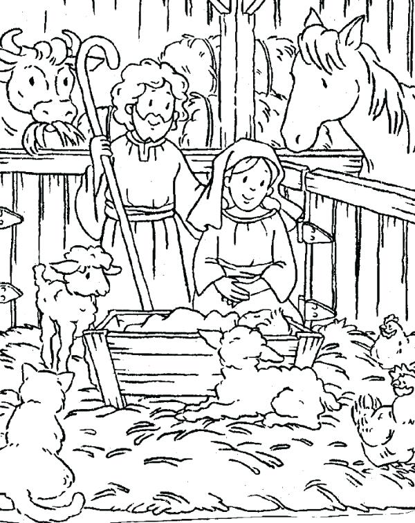 600x757 Birth Of Jesus Coloring Pages Free Free Christian Coloring Pages