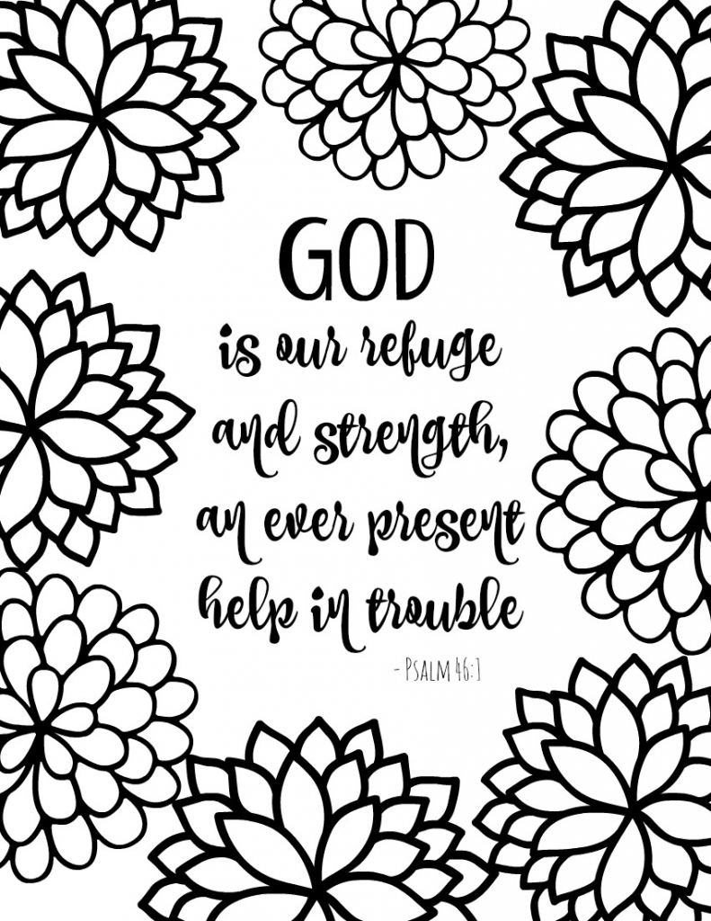 791x1024 Printable Free Printable Bible Verse Coloring Pages With Bursting