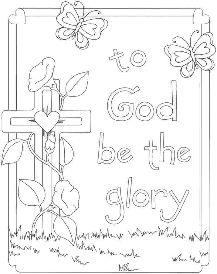 715x902 Religious Easter Coloring Pages